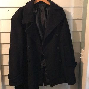 Jos A Bank Navy Blue Men's Pea Coat 🧥